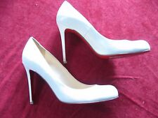 Paris CHRISTIAN LOUBOUTIN Leather Ivory Bridal Wedding Shoes Heels Size 38 US 8