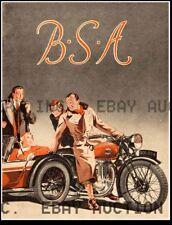 vintage BSA motorcycle factory advertisement ca 8 x 10 print prent poster
