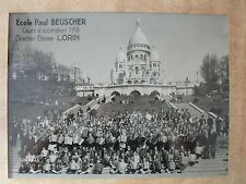 ECOLE-PAUL BEUSCHER-ACCORDEON-1958-ETIENNE LORIN-MUSIQUE-SACRE COEUR-PHOTO