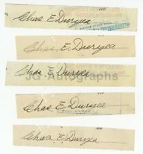 Charles Duryea - 5 Autographs - Automotive Icon Engineer of 1st Gas-Powered Car
