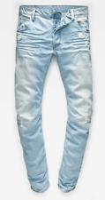 G-Star 3301 Tapered Wisk Denim Lt Age Destroy Mens Jeans Size 31W 34L *REF139-E