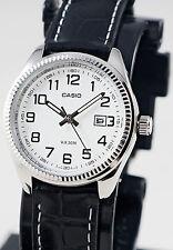 Casio LTP-1302L-7BV Womens 50M WR Watch Black Leather Band Dress Date New