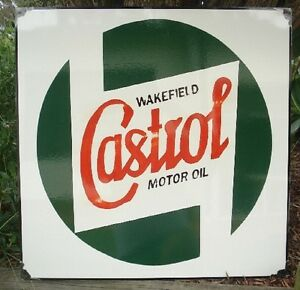 CASTROL WAKEFIELD ENAMEL SIGN REPRODUCTION (MADE TO ORDER) #66#
