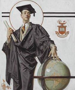 Joseph Christian Leyendecker June Graduate Poster Giclee Canvas Print
