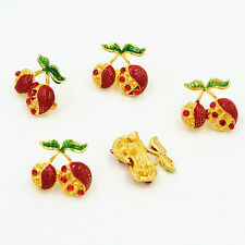 Lovely Red Cherry Brooch Pins Very Cute And Fashion Collar Pin Cake Pin B065