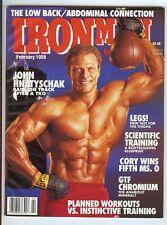 IronMan Magazine - Feb 1989 - Back Issue MUSCLE Magazine