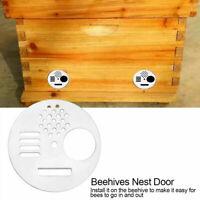Entrance Disc Bee Hive Nuc Box Entrance Gate Tool 12pc Plastic Bee Nest Door