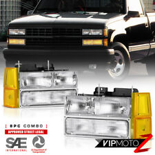 [FACTORY STYLE] 94-98 GMC C10 CK 1500 2500 3500 PickUp Headlight 8PC FULL SET