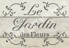 Plantilla francés A5 le Jardin des Fleurs Muebles De Tela ❤ Vintage Shabby Chic