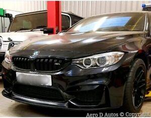 BMW M3 M4 Front Bumper Splitter Spoiler Lip  Black   PU Plastic   New F80 F82
