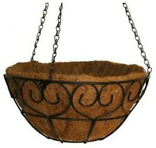 Vigoro 14 in. Metal Heart-Scroll Hanging Basket