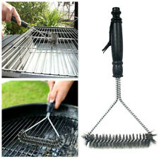 BBQ Brush Grill Cleaning Stainless Steel Wire Bristle 30CM Barbecue Scraper UK