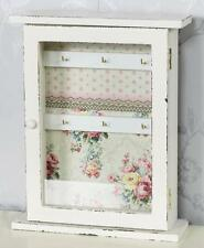 Vintage Home Shabby Chic Key Box Rack Cabinet Tidy with Door Ditsy Floral