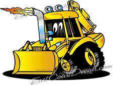 CAT Backhoe jcb loader DECAL & Ford CUSTOM deer DECALS Cartoon sticker - New