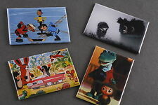 "Lot Set 4 Soviet Cartoon Magnet 2""x3"" Cheburashka Kisvakond Shaybu Hedgehog Fog"