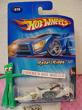 2005 Hot Wheels W-OOZIE motorcycle  #078/78☆White w/Gray☆Rebel Rides 3/5