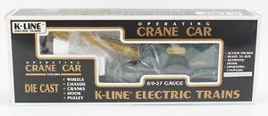 K-Line K681-7501 Kennecott Copper Operating Classic Crane Car New in Box O/O-27