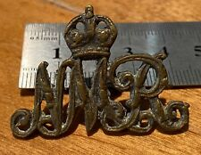 More details for boer war - south african natal mounted rifles theatre cast brass cap badge - b29