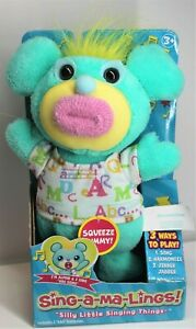 """FUNRISE SING-A-MA-LINGS! ALPHIE """"ABC SONG ALPHABET"""" 2017 MINT GREEN AGES 3+ NEW"""