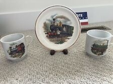 train plate snd cup set