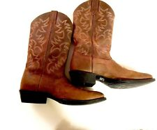 Ariat Mens Heritage R Toe Cowboy Boots Distressed Brown Size 12 D Worn Twice