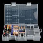 Battery Holder 39 Grids AAA AA Plastic C 9V Organizer Case Hard Box D Storage