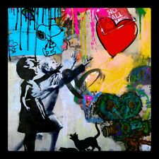 Motiv Banksy Girl with Baloon 120 x 120 cm Arcylglas 5 mm PopArt/Street Art/Loft