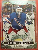2019-20 Upper Deck MVP Henrik Lundqvist New York Rangers + 1 other 2 total