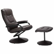 Recliner Chair 360 Degree Swivel Armchair Modern Lounge Seat with Footrest Stool