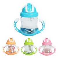 320ml Baby Bottle Kids Cup Silicone Children Training Cups Cute Baby Drinki V9X3