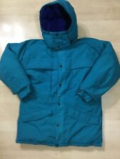 Vintage The North Face GORE-TEX Hooded Jacket Down Size Medium Blue Excellent