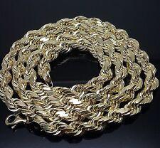 Real Solid 10K Gold Rope Chain 30 Inch long Diamond Cuts, Franco,Cuban, Italian
