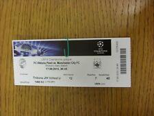 Billete De 17/09/2013: Viktoria Plzen v Manchester City [] Liga de Campeones. gracias