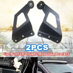 2PCS Off-road SUV Roof LED Light Strip Bracket Car Upper Bar Mounting Bracket