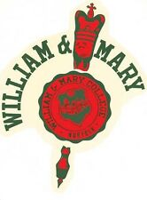 Vintage Decal  Tribe  University of  William And Mary  College