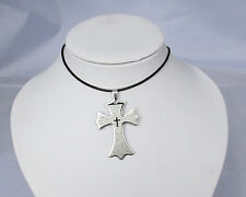 Nuovo Design Argento Acciaio Inox Pendente A Croce Collana Regalo
