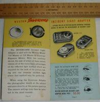 VINTAGE 1944 WESTON CATALOG/BROCHURE! LIGHT METERS/FILM/THERMOMETER/ANALYZER!