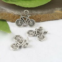 30pcs Tibetan Silver bicycle Beads Finding H0886