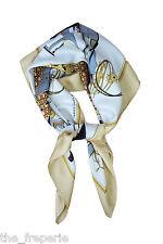 * hermès * Vintage LES VOITURES A TRANSFORMATION silk scarf 90 cm