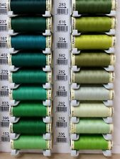 Gutermann Sew All Thread Polyester 100m  Shades of Green Hand and Machine Sewing