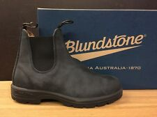 BLUNDSTONE UK 10 RUSTIC BLACK 100% ORIGINALI NUOVE !!!