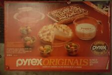 Vintage Pyrex Originals 9 Piece Starter Set Glass Ovenware 1208-N New sealed.