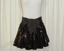 "BNWT:STUNNING SASS&BIDE BLACK SEQUINNED BUBBLE SKIRT AUS 12/14 ""OUT OF SHADOW"""