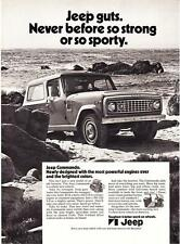"""1972 Jeep Commando photo """"Jeep Guts. Never So Strong or Sporty"""" promo print ad"""