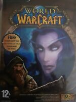 world of warcraft game 5 disk with manual pc mac cd-rom blizzard