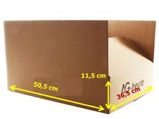 20 x Versandkarton Faltkarton 2-Wellig 505 x 365 x 115 mm Braun NEU