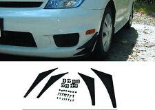 4 Pcs Front Bumper Canard Fins Splitters Valence Spoiler Lip Diffuser Add on