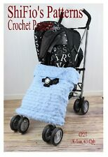 CROCHET PATTERN for BABY BUGGY BLANKET STROLLER AFGHAN  #237 NOT CLOTHES