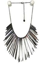 Claires Metal Spikes Statement Bib Dangle Stylish Steampunk Necklace