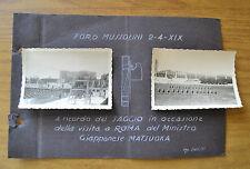 LOTTO 2 FOTO FORO MUSSOLINI 2 4 1941 ROMA VISITA MATSUOKA FASCISTI DUX FASCIO